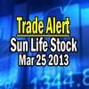 Trade Alert – Sun Life Stock (SLF) On TSX – March 25 2013