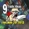 9 Trade Ideas For November 20 2013