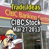 Trade Ideas – CIBC Stock (CM) – March 27 2013