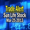 Trade Alert – Sun Life Stock (SLF) On TSX – March 25 2013