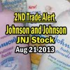 Second Trade – Johnson and Johnson Stock (JNJ) – Aug 21 2013