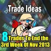 8 Trade Ideas To End The 3rd Week Of Nov 2013