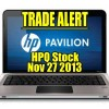 Trade Alert – Hewlett-Packard Stock (HPQ) Nov 27 2013 – Using Bollinger Bands and 10 Day EMA Strategy