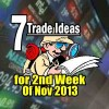 7 Trade Ideas To End The 2nd Week Of Nov 2013