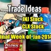 10 Trade Ideas For The Final Week Of Jan 2014 – JNJ, CLX Stocks