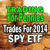 Trading For Pennies Trades For 2014 Using SPY ETF (SPDR 500 ETF)