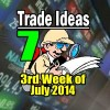 Protection First, Profit Second – 7 Trade Ideas For The Third Week Of July 2014