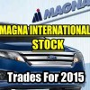 Magna International Stock (MG) Trades For 2015