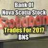 Bank Of Nova Scotia Stock (BNS) Trades For 2017