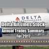 Delta Air Lines Stock Trades For 2017