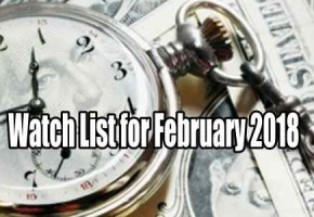 Watch List of Trades for February 2018