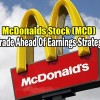 McDonalds Stock (MCD) – Trade Ahead Of Earnings Strategy Alerts for Tue Jan 29 2019