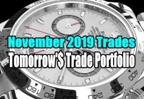 Update Of Tomorrow's Trade Portfolio Ideas for Nov 18 2019