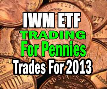 Trading For Pennies Trades For 2013 Using IWM ETF (ishares Russell 2000)