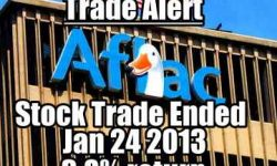 Aflac stock Jan 24 2013