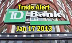 TD Stock Jan 17 2013