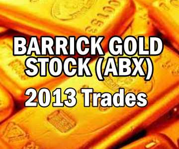 Barrick Gold Stock (ABX) 2013 Trades