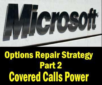 Stock repair options strategy