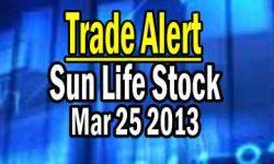 Trade Alert - Sun Life Stock (SLF) On TSX - March 25 2013