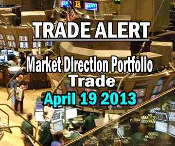 Trade Alert – Market Direction Portfolio – Apr 19 2013