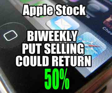 Apple Stock Biweekly Put Selling Strategy Could Return 50%
