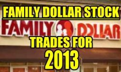 Family Dollar Stock (FDO) Trades For 2013