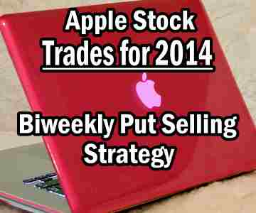 Apple Stock Put Selling Biweekly Strategy Trades For 2014