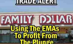 Trade Alert - Using The EMAs To Profit From The Family Dollar Stock (FDO) Plunge - Jan 9 2014