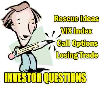 Rescue Ideas for VIX Index Call Options Losing Trade – Investor Questions