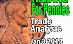 Trading For Pennies Strategy SPY Trade Analysis for Jan 3 2014 - 33% return