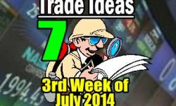 Seven Trade Ideas for the third week of July 2014