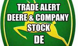 Deere stock trade alert
