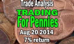 Trading For Pennies Strategy Trade Analysis for August 20 2014