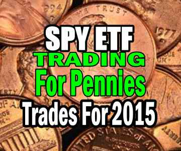 Trading For Pennies Strategy – Trades For 2015 Using SPY ETF (SPDR 500 ETF)