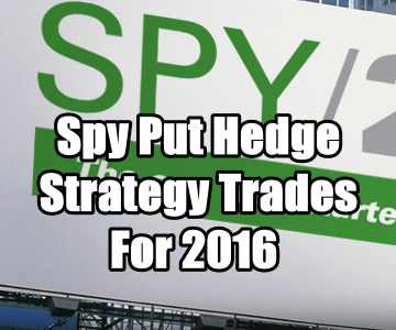 Spy ETF Hedge Strategy Trades Summary For 2016