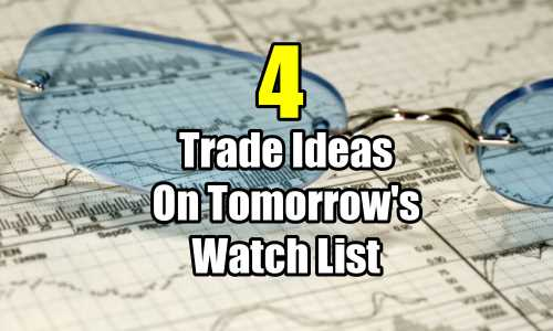 4 Trade Ideas for Tomorrow's Watch List