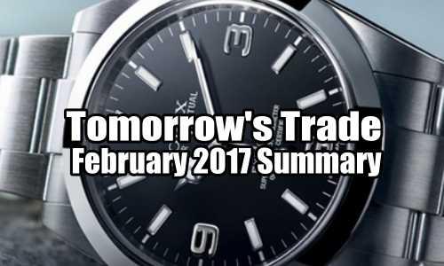 Tomorrow's Trade Portfolio – February 2017 Summary