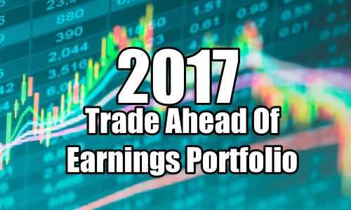 Trade Ahead Of Earnings Strategy Portfolio Summary for 2017