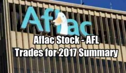 Aflac Stock Summary of 2017 Trades
