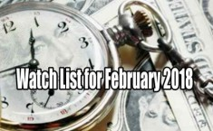 Watch list of trade ideas for February 2018