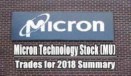 Micron Stock trades for 2018 summary