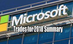 Microsoft Stock (MSFT) Trades for 2018 Summary