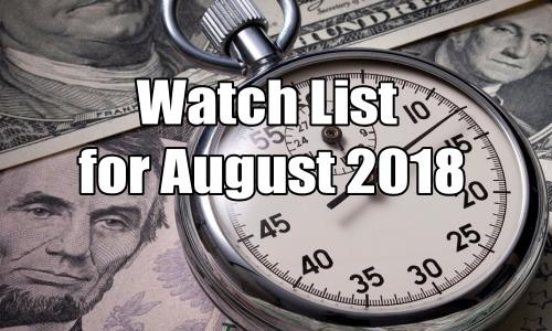 Watch List of August 2018