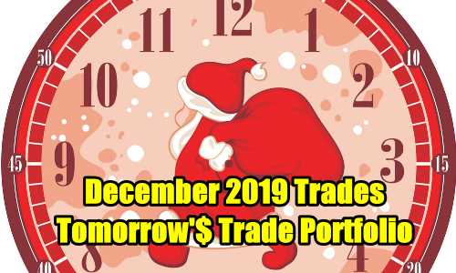 Tomorrow's Trade Portfolio Ideas for Dec 3 2019