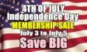 4th of July Membership Sale