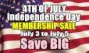 4th of July Membership Sale