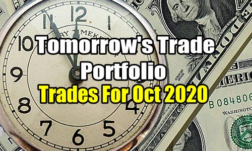 Tomorrow's Trade Portfolio Ideas for Oct 26 2020