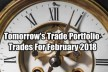 Tomorrow's Trade Portfolio Ideas for Fri Feb 16 2018