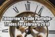 Tomorrow's Trade Portfolio Ideas for Fri Feb 16 2018