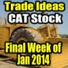 Caterpillar Stock (CAT) – Trade Ideas For Last Week of January 2014